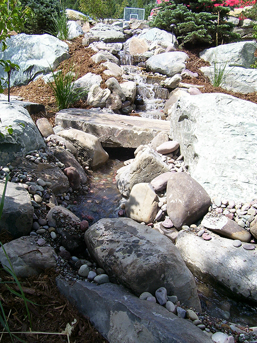 Stream with Stone Bridge